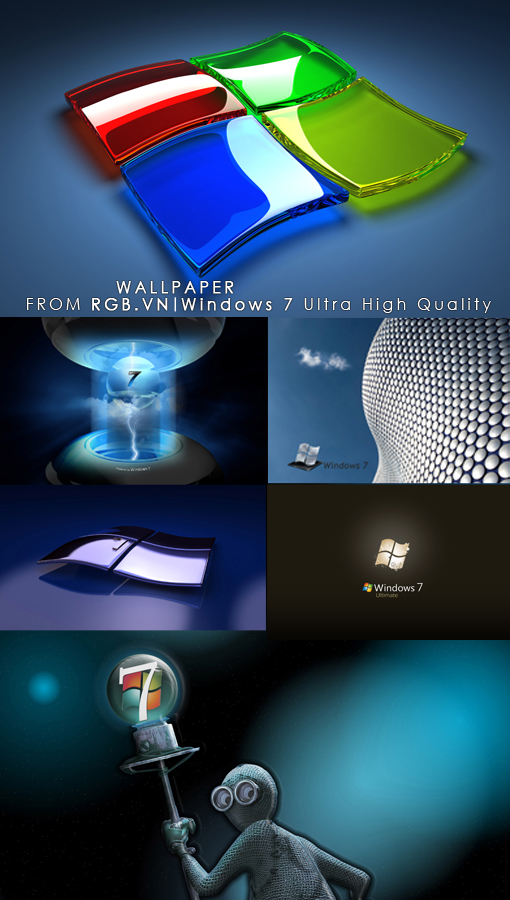 100 Windows Se7en 3D Wallpapers Megapack