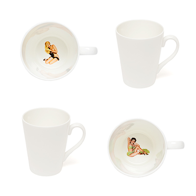 Crumpet & skirt peek a boo mugs