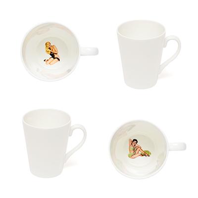 Crumpet & skirt peek a boo mugs