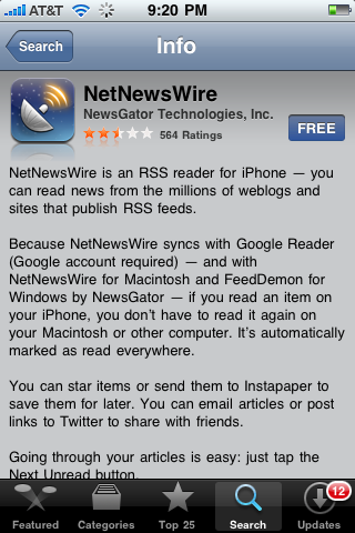 NetNewswire for iPhone