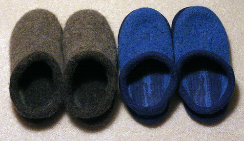 New slippers + old slippers