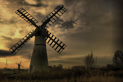 Forgotten Landscape (Lunar_Eclipse) Tags: uk blue trees light england sky sun mill nature windmill station clouds river boats canal village unitedkingdom ships norfolk gb hdr eastanglia anglia broads pumping norfolkbroads thurne pumpingstatio
