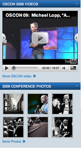 screenshots of mostly guys from OSCon page