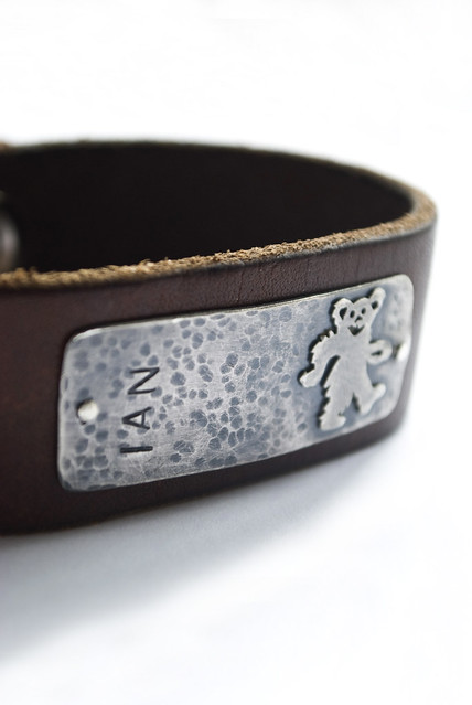 custom leather cuff...