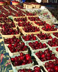 Cherries from Santa Fe Farmer's Market in New Mexico (Diann Bayes) Tags: cherries santafe farmersmarket food fruit