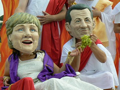 Merkel e Sarkozy sul triclinio, Roma, 6 luglio...