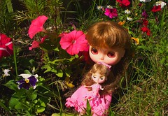 Two sweet sisters in Flower Forest