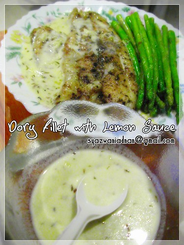 dory fillet with lemon sauce
