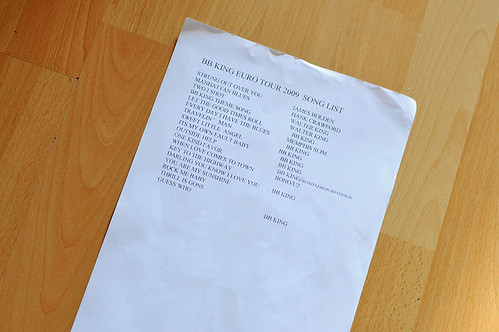 B.B. King Setlist