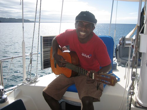 Masing performs for us aboard Sabbatical III at Banam Bay,Malekula
