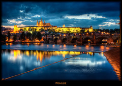 Prague Postcard (szeke) Tags: bridge night clouds river landscape puente nightlights prague praha praga praskhrad czechrepublic charlesbridge vltava hdr hradcany bluelight praguecastle karlvmost moldau photomatix eskrepublika flickrsbest nikcolorefex imagenomic karlvmost nimbocumulus praskhrad eskrepublika vltavaandhradcany