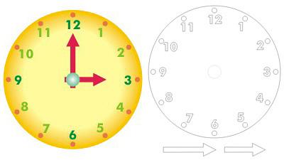 kartondan saat yapımı için hazır karton saat şablonu