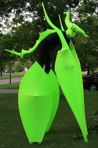 praying mantis/alien costume