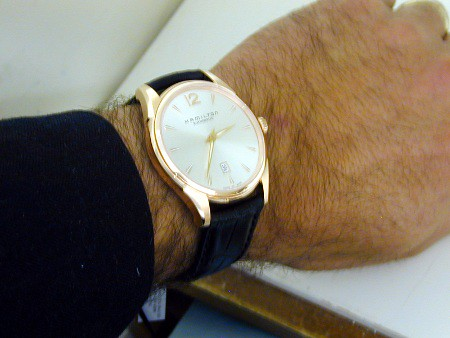 The Slim 43 on Dino's wrist