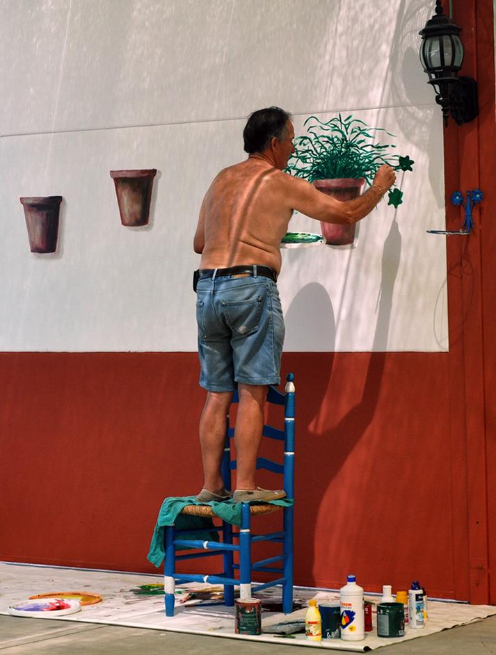 Pintando geranios
