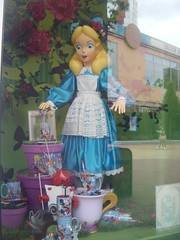 Alice window display (Elysia in Wonderland) Tags: holiday paris window shop store village display alice disneyland august card merchandise wonderland eurodisney 2009 elysia