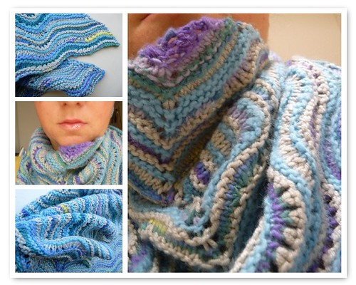 Amethyst and Aquamarin Shawl