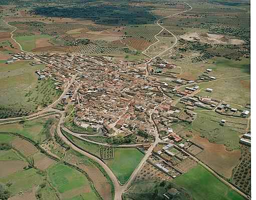 Vista aérea de Santa Cruz de los Cáñamos