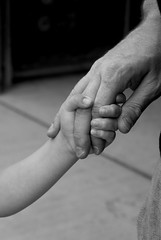 daddy's hand (Little Piggies) Tags: carnival blackandwhite girl hands toddler fair holdinghands daddydaughter