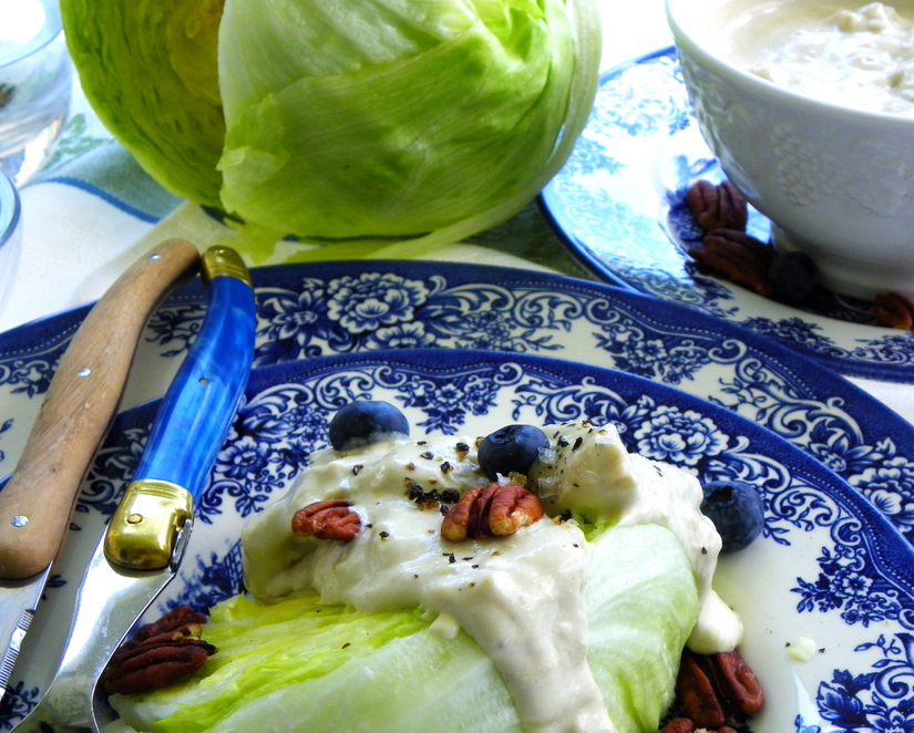 Iceberg Wedge With Roquefort Dressing