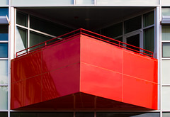 balcony eruption (booksin) Tags: red building architecture big thing balcony structure architectural element jutting booksin copyrightbybooksinallrightsreserved