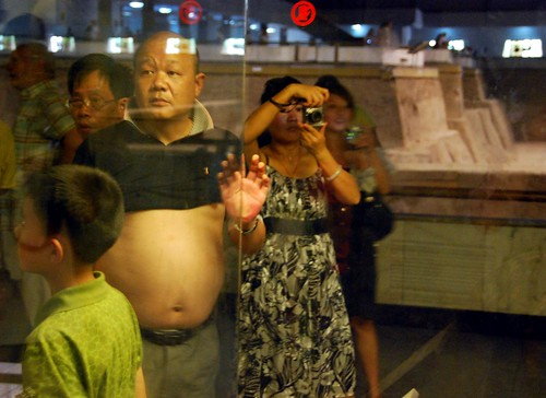 big belly at the army of terra cotta soldiers, xian