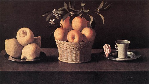 Zurbaran, Francisco de (1598-1664) - 1633 Still Life with Lemons, Oranges and Rose (Norton Simon Museum of Art, Pasadena, CA, USA.)