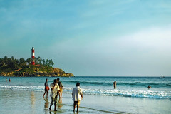 Kovalam Beach India (Anoop Negi) Tags: world light sea portrait sky india house seascape color colour beach water clouds landscape photography for photo sand media place image photos delhi indian bangalore creative culture kerala images best po tradition mumbai anoop journalism negi kovalam photosof ezee123 bestphotographer trivandurm imagesof anoopnegi thiruvanananthapuram jjournalism