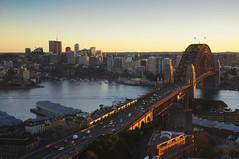 Bahia de Sydney (Alfredi) Tags: viaje house atardecer harbor agua opera sydney australia ciudad sidney
