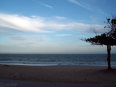 Praia de Itaparica (Camila Geek Girl) Tags: sea sky cloud praia beach clouds mar cu nuvens nuvem  umi   hama sora sunahama kumo         biichi biiti