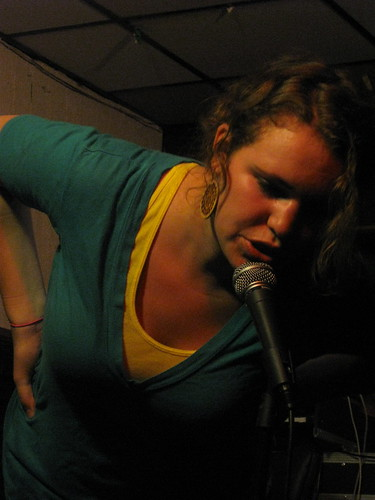 Beth Stelling at Entertaining Julia at Town Hall Pub 9-6-09