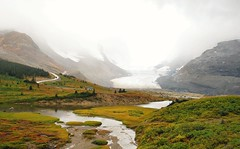 Columbia Icefields (Krysta Shippelt (Larson)) Tags: snow canada mountains cold beautiful fog clouds landscape gorgeous freezing stormy columbia glacier alberta icefields