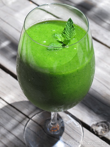 Tropical Green Goddess Smoothie