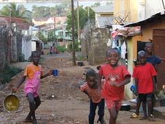 Children in Pink and Red (Karen Hlynsky) Tags: sierraleone westafrica freetown karenhlynsky
