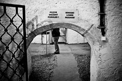 Praha - Beware Lower Passage (Mikael Colville-Andersen) Tags: photo republic czech prague photos prag praha exhibition cellar tjekkiet forgottenprague