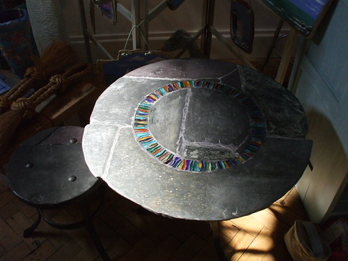 Shingle Dreaming Collection occasional table...wave circle