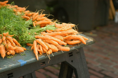 carrots at the market