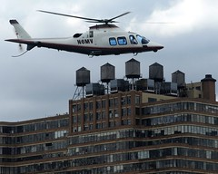 Helicopter over Midtown Manhattan, New York City (jag9889) Tags: city nyc ny newyork building rooftop water kayak manhattan towers helicopter kayaking paddling 2009 copter y2009 jag9889