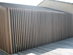 Timber Cladding over Steel and Glass (Z303) Tags: building glass steelframe timbercadding