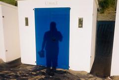B (lomokev) Tags: blue shadow sea holiday color colour beach sand nikon devon beachhut agfa ultra woolacombe agfaultra nikonos deletetag nikonosv nikonos5 nikonosfive roll:name=090923nikonosandunknownultra woolacombebeachhut file:name=090923nikonosandunknownultra31