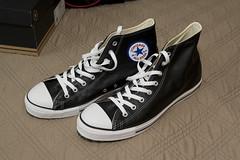_MG_8995_b368 (geekbearjeff) Tags: sneakers footwear canonef2470f28l canon580ex lightsphereiicloud chucktaylorhightops canon30djeff blackleatherchucks photosbyjeffhuyler