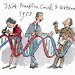 Francis Crick, James Watson and Rosalind Franklin by Quentin Blake