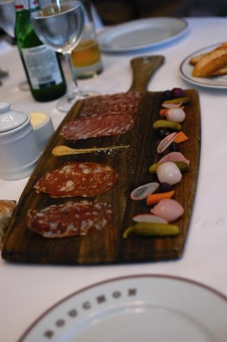 charcuterie platter at Bouchon