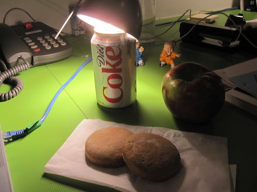 Cookies and an apple from the bistro Diet Coke from the vending machine - $1.25