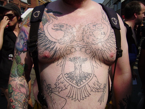 FOLSOM STREET FAIR 2009 HOT GUYS big tat bear -SEXY CHEST. FOLSOM STREET FAIR 2009. THANK YOU for all the cool men and beautiful women who let me take their