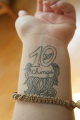 hemp bracelet (and my tattoo) (condor avenue) Tags: beard jewelry bracelet macrame paulb hemp tenthings othercrafts paulbaribeau