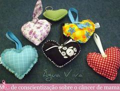 Corações (Água Viva) Tags: corações coração tecidohandmade