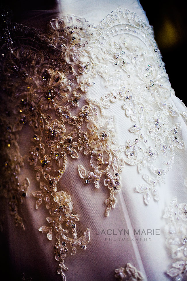 Lawrence, Kansas wedding photography beaded dress photo