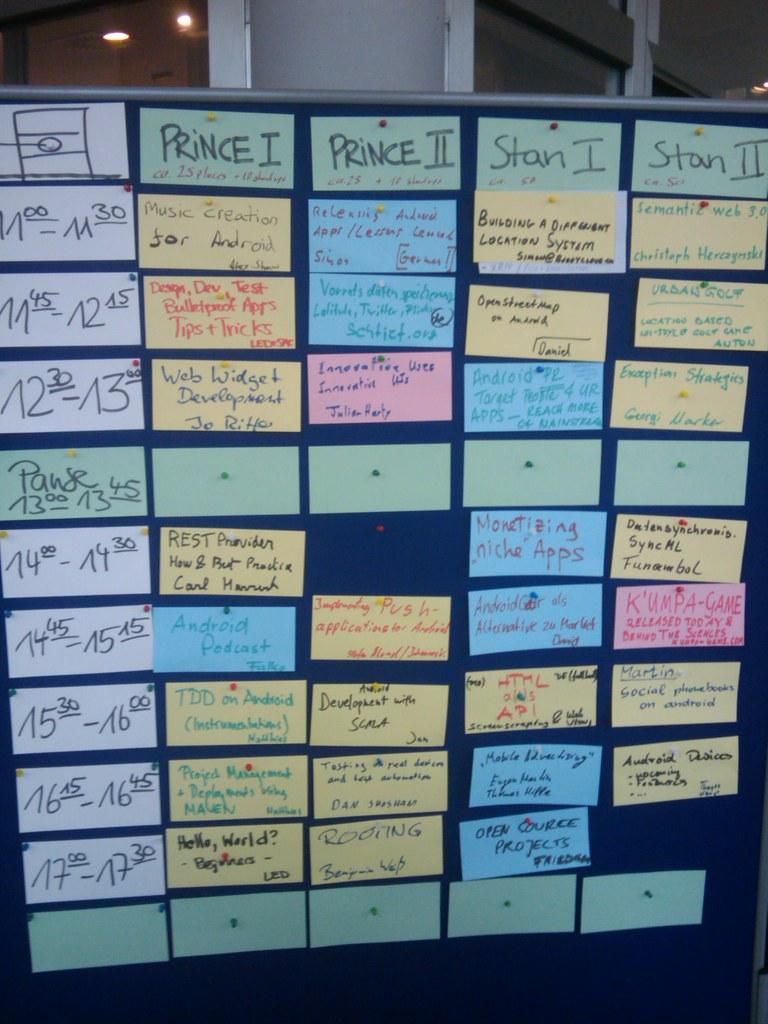 der #droidcamp schedule ich bin um 11.45 dran