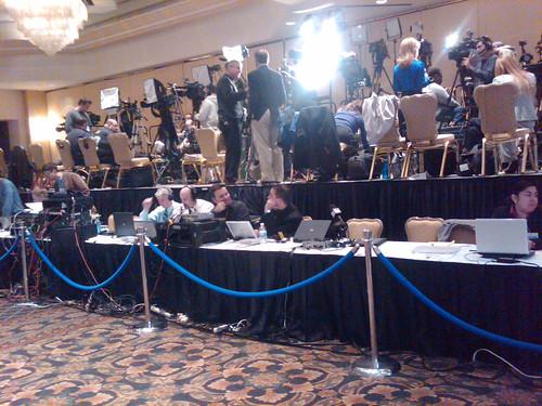 Corzine victory party media